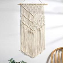 Macrame Wall Hanging Hand-Woven Cotton Tapestry Bohemian Style Decoration For Bedroom Living Room