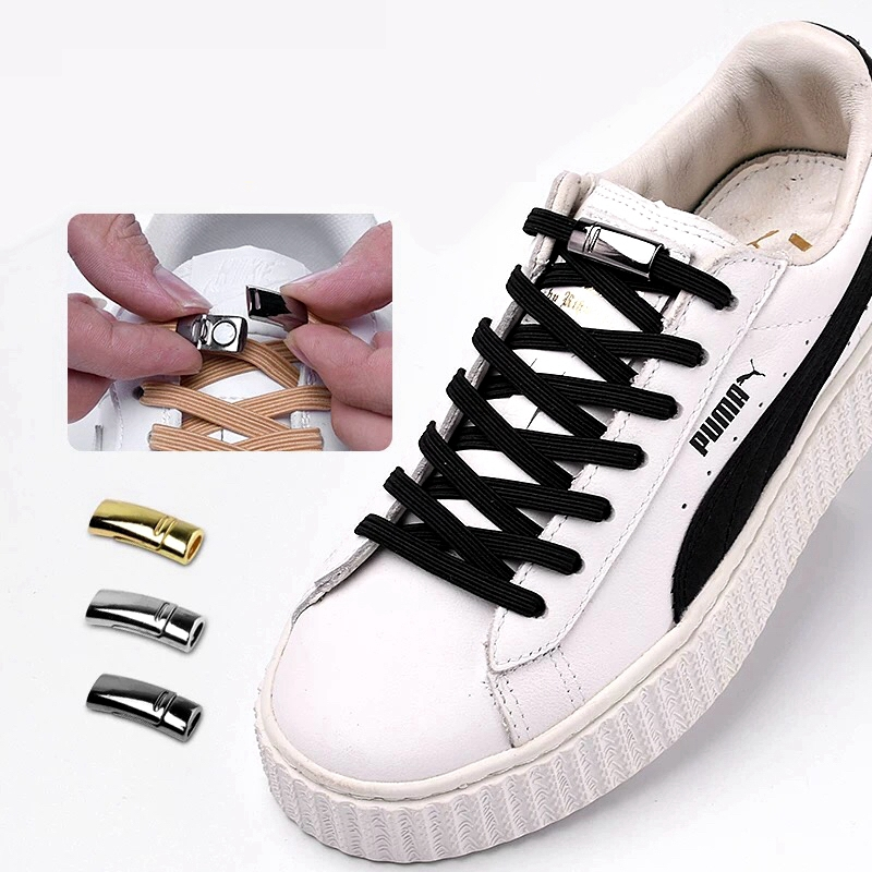 Magnetic Shoelace Metal Lock Suitable For All Shoes Lazy Shoelace Buckle Children Adult Fashion Casual Unisex Shoelace