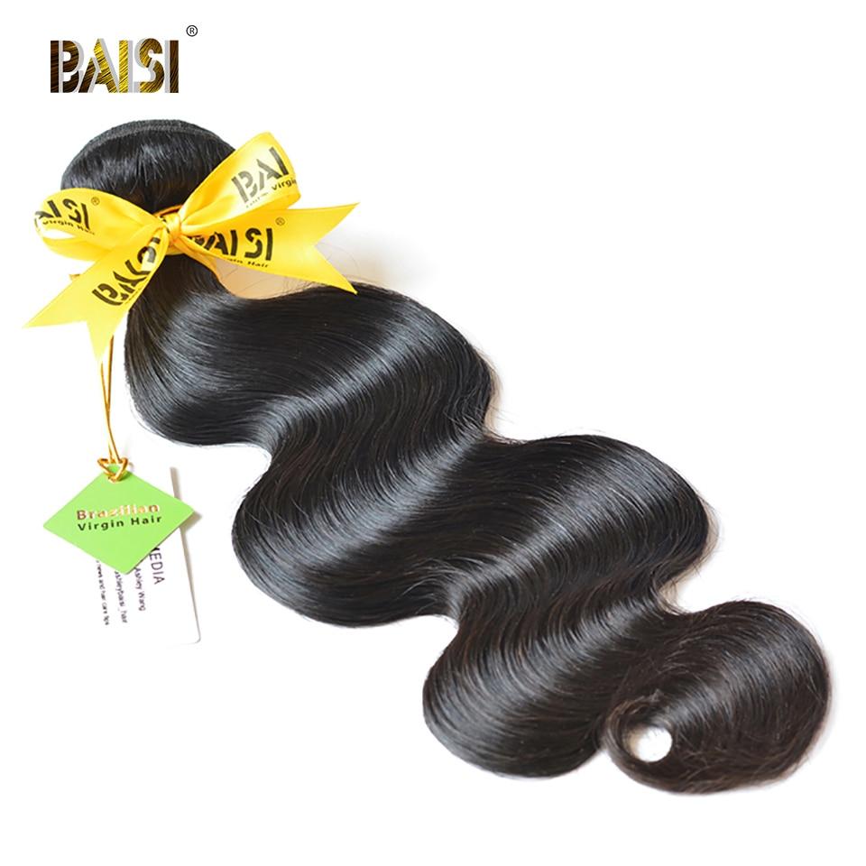BAISI cheveux humains 10A brésilien vierge cheveux armure faisceaux 100% non transformés brésiliens vague de corps Extensions de cheveux