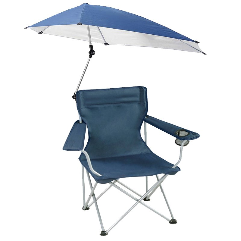 Outdoor Leisure Fishing Chair Portable Folding Sunshade Beach Chair Travel Camping Chair With Umbrella