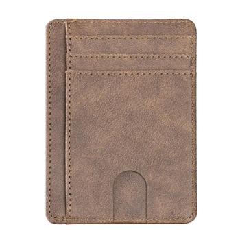 Λεπτό δερμάτινο πορτοφόλι και card holder με σύστημα rfid blocking