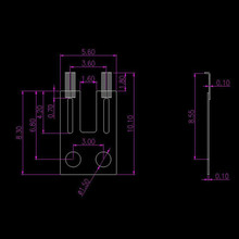 2pcs Carbon Brush Angle Column For BMW E65 E66 E60 730 740 530 7 Series Replacement
