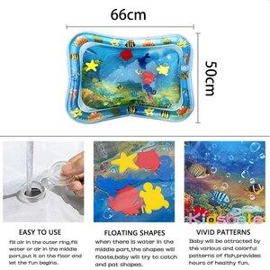 Image 4 - 赤ちゃん水プレイマットおなか時間のおもちゃ新生児プレイマットpvc幼児楽しい活動inflatbaleマット幼児のおもちゃシーワールドカーペット