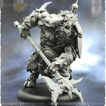 55mm Halberd Minotaur, Resin Model figure GK, Fantasy theme, Animal warrior, Unassembled and unpainted kit(China)