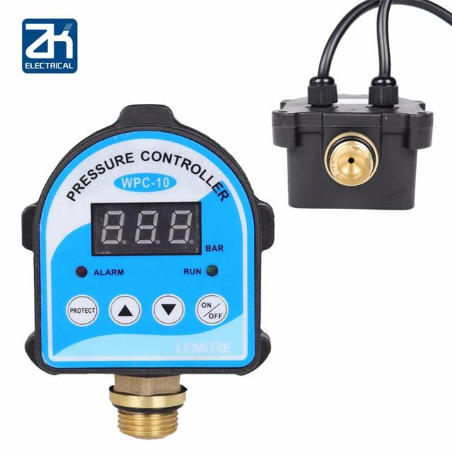 """לחץ דיגיטלי בקרת מתג WPC 10, תצוגה דיגיטלית Eletronic לחץ בקר עבור מים משאבת עם G1/2 """"מתאם"""