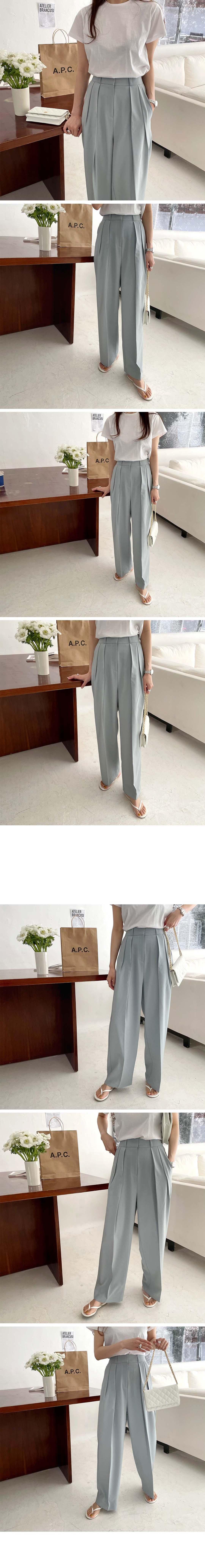Hcf1e45543bf84c80aa023dc84dae8cdbG - Summer Korean High Waist Loose Folds Wide Leg Solid Suit Pants