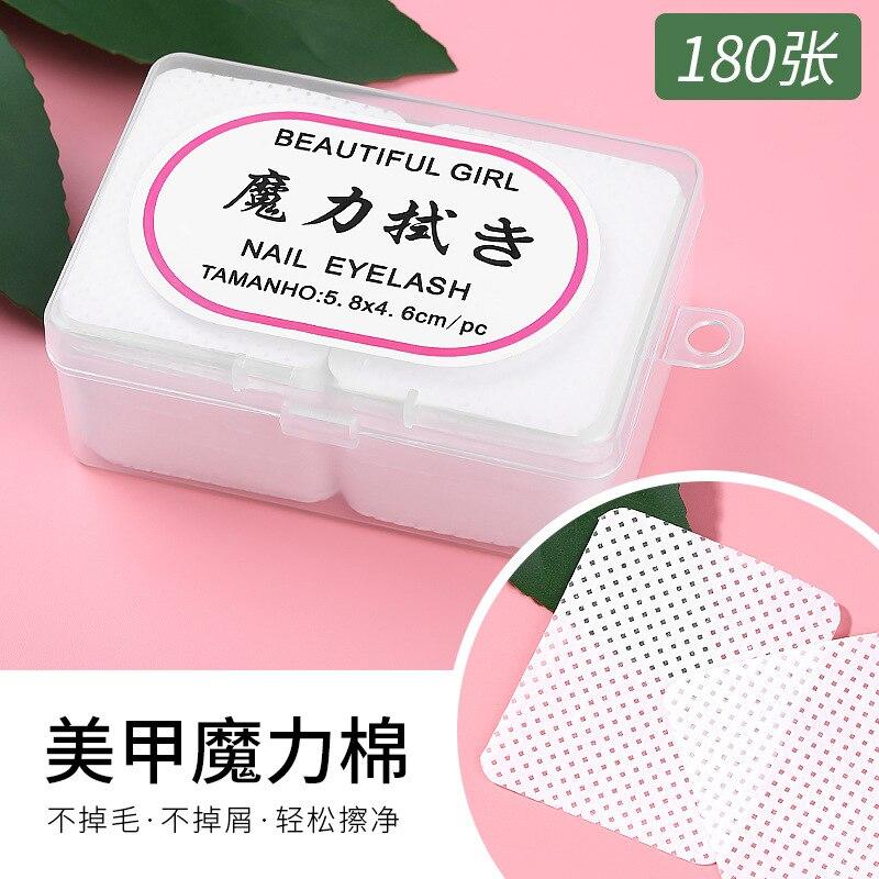 Nail Polish Remover Nail Wipes Bath Manicure UV Gel Lint-Free Wipes 100% Cotton Napkins For Nails Nail Art Tool D249