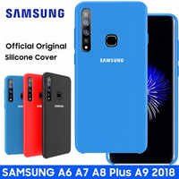 Samsung A9 2018 Fall Original Mode Silikon Weiche Schutz Zurück Abdeckung Samsung Galaxy A9 2018 A9s A920 A920F Fall Abdeckung capa
