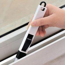 Brosse de nettoyage de rainure de rail de fenêtre, brosse de nettoyage de rainure de rail de fenêtre, pelle brosse de clavier d'ordinateur, accessoires de bureau 1 pièce
