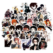 50pcs Bungo Stray Dogs Anime Sticker Stickers PVC Graffiti Stickers Suitcase Luggage Guitar Car Waterproof For Children Toys F5