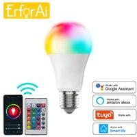 Smart WiFi lampadina cambia colore E27 dimmerabile LED RGB lampada telecomando/controllo vocale per Alexa Google Home Tuya Assistant