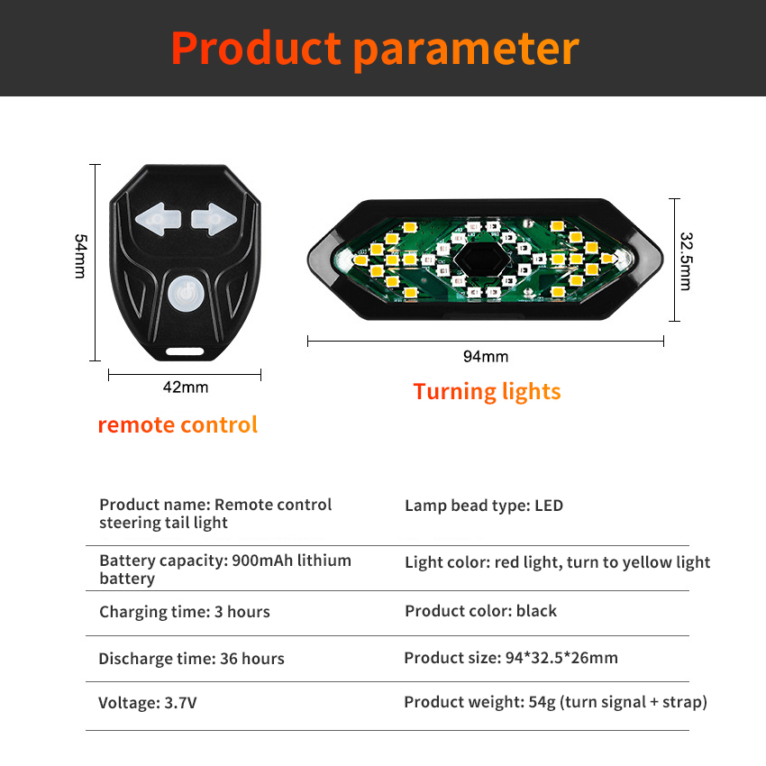 Remote Control LED Bicycle Light