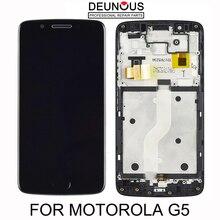 Оригинальный дисплей для Motorola Moto G5, ЖК-дисплей с сенсорным экраном и рамкой для Moto G5, ЖК-дисплей с дигитайзером для замены XT1676