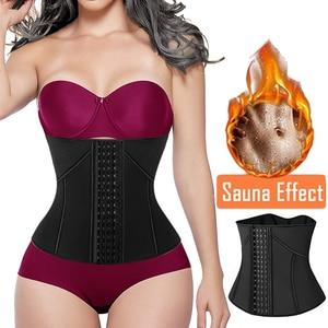Image 1 - ネオプレン汗ウエストトレーナーコルセットトリマーベルト女性のための減量ウエストニッパーシェイパースリムボディ胃シェイパー