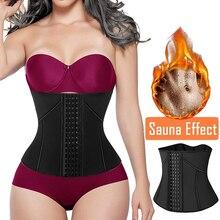 Entrenador de cintura de neopreno para el sudor para mujer, corsé recortador, cinturón para pérdida de peso, moldeador de cintura, adelgazante, moldeador de estómago y cuerpo