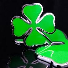 3d metal etiqueta do carro de alta qualidade verde sorte trevo etiqueta lateral para alfa romeo quatro folhas trevo emblema etiqueta do carro-estilo