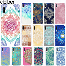 Ciciber kılıf Samsung Galaxy A51 S20 A71 A50 A70 A80 A90 A40 A30 A20 A60 A10 A20e Ultra artı silikon Mandala çiçek kapak