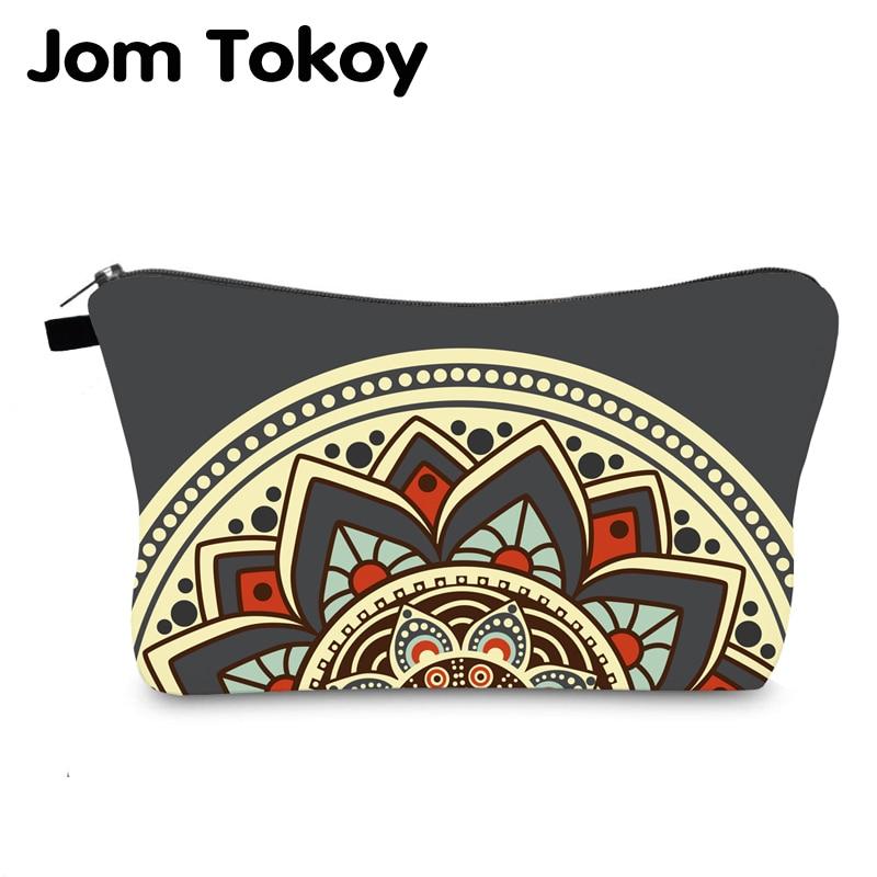 Jom Tokoy Cosmetic Bag Printing Mandalas Personalised Makeup Bags Organizer Bag Women Beauty Bag Hzb1002