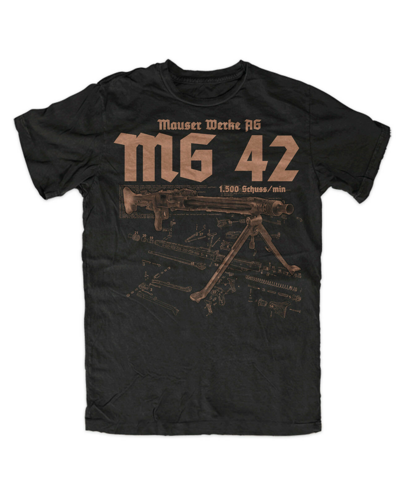 Mg 42 Premium T-Shirt Mp 40 , Mp44 , Armee , Tactical T-Shirt Unisex Tees