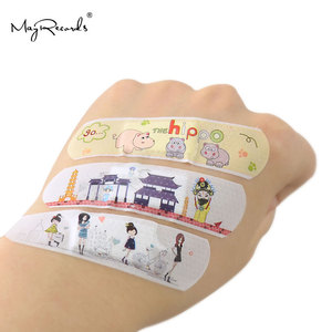 Image 3 - Free Shipping 50PCs Cartoon PE Waterproof Animals Style Adhesive Bandages Band Aid First Aid For Kids Children