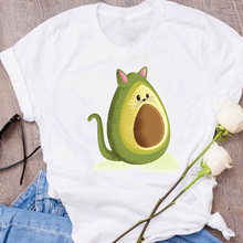 Women Graphic Ladies Avocado Animal Cartoon Funny 90s Clothes Lady Tees Print Tops Clothing Female T Shirt Womens T-Shirt(China)