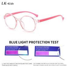 Eyewear Optical Eyeglasses Anti-Blue light TR90 Computer Transparent-Lens Round Blocking