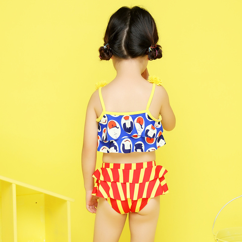 2018 Xiqi KID'S Swimwear Girls' Two-piece Swimsuit Baby Flower Bikini 8949