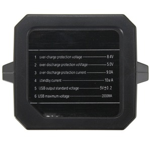 Image 5 - مقاوم للماء 18650 بطارية ليثيوم حزمة صندوق تخزين غطاء مع USB تيار مستمر مزدوج إخراج 8.4 فولت للدراجة مصابيح إنارة رأسية هاتف محمول