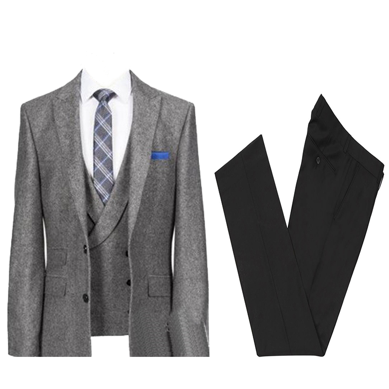2020 New Mens Suits Jacket Pants Two Pieces Formal Men Suits For Business Diner Party Wedding Wear Groom Tuxedos (Jacket+Pants)