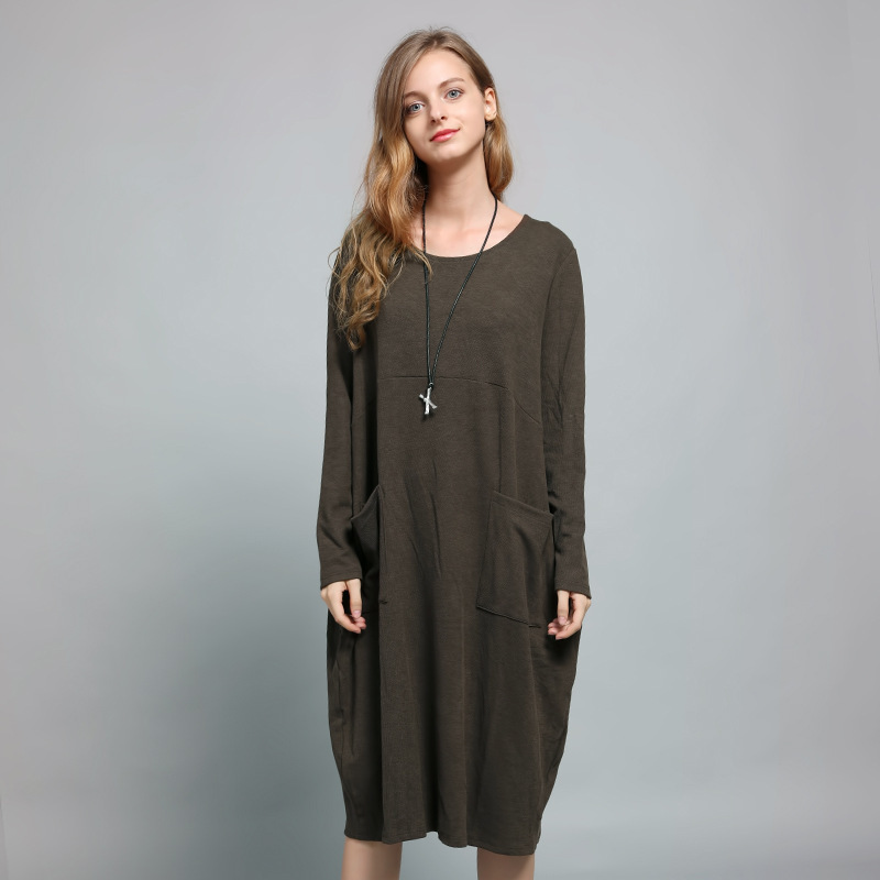 Europe And America Elegant Trend New Style WOMEN'S Dress Mid-length Jersey Dress Loose And Plus-sized WOMEN'S Dress Skirt