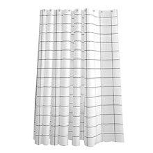 Stores à crochets, installation facile, grille noire et blanche, accessoires PEVA, étanche, résistant aux moisissures, décor de salle de bain, rideau de douche