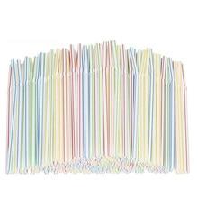 Disposable Straws Plastic for Bar/beverage Shops/home Paille En Colourful Restaurant