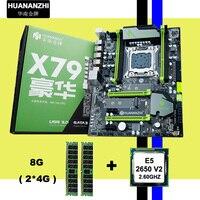 ¡!! HUANAN V2.49 X79 placa base CPU RAM combos Xeon E5 2650 V2 CPU (2*4G) 8G DDR3 RECC memoria todo bueno y probado  2 años de garantía