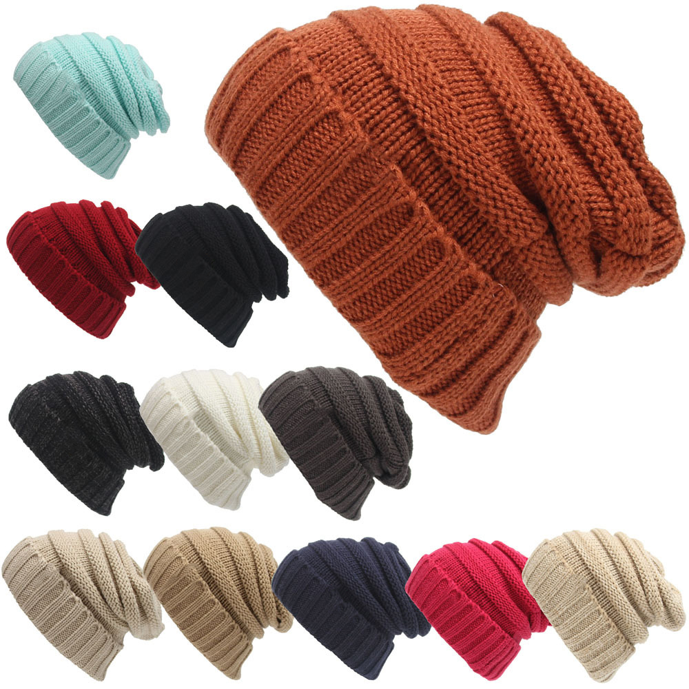 Winter Brand Female Ball Cap With Tag Winter Hat For Women GirlS Hat Knitted Beanies Cap Hat Thick WomenS Skullies Beanies