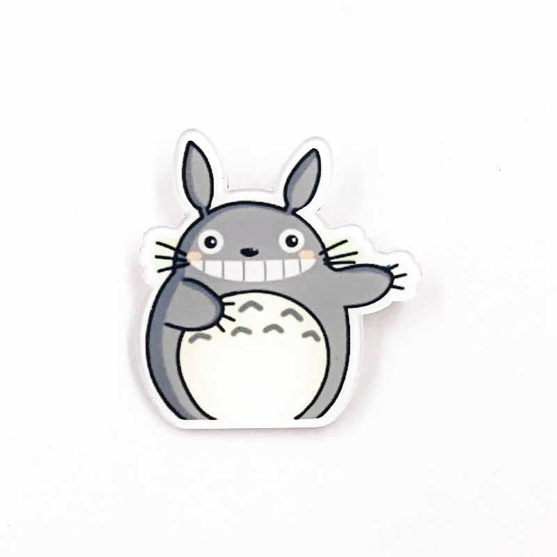 Buy Fancyku- 1 PCS Japan Anime Brooch Cartoon Totoro Brooch Icons On  Backpack Acrylic Badges Pin Badges for Clothes Backpack Decoration( Style  01) Online at Low Prices in India - Amazon.in