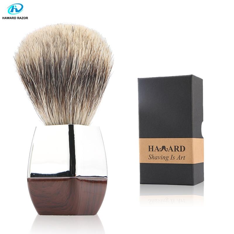 HAWARD RAZOR Men 100% Pure Badger Shaving Brush For Safety Razor Double Edge or