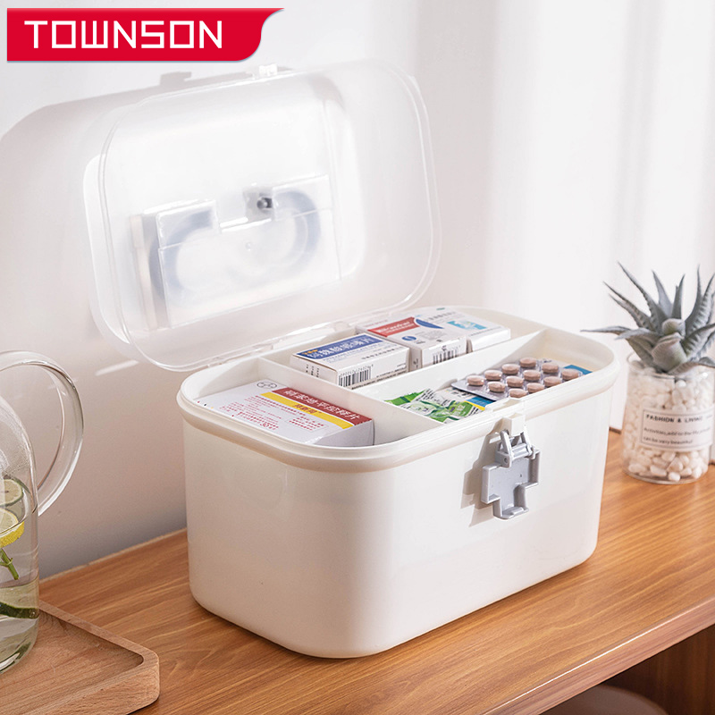 medicine organizer large-capacity medicine cabinet Multi-layer medicine box medicine container Convenient first aid kit for home