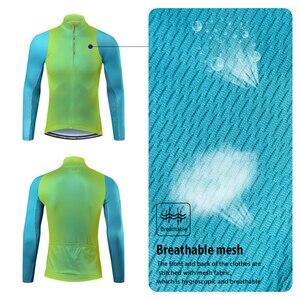Image 4 - Santic mężczyźni jazda na rowerze Jersey długie rękawy Fit wygodne słońce ochronne szosowe topy koszulki MTB Jersey rozmiar azjatycki WM8C01100