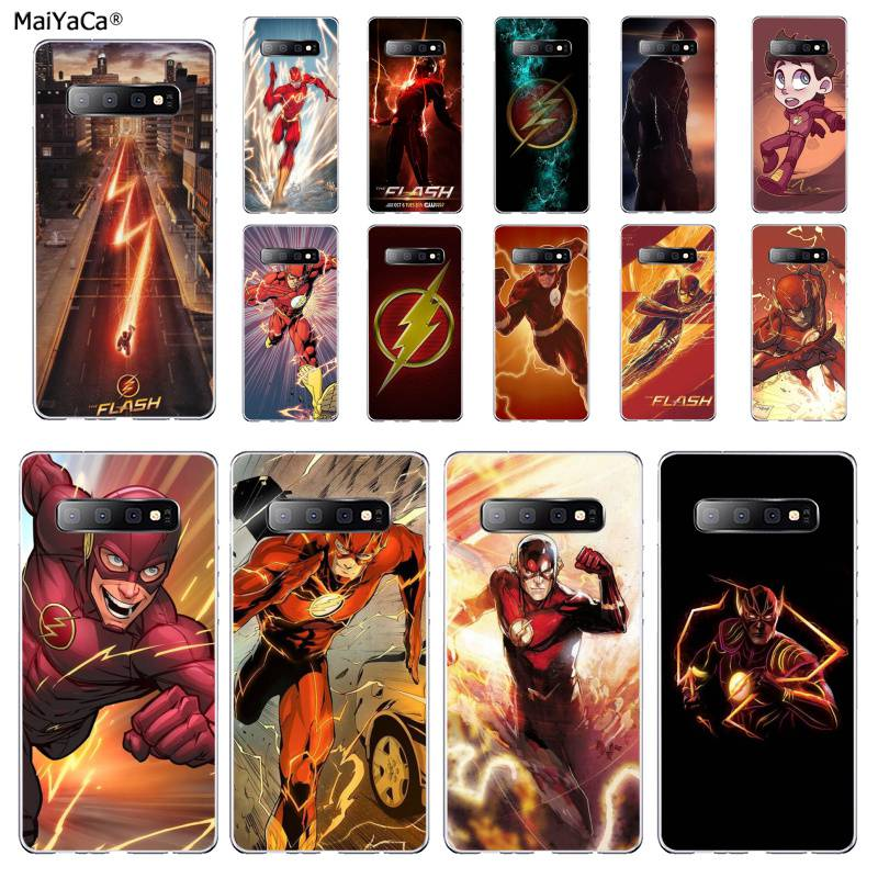 US $1.01 49% OFF|MaiYaCa The Flash barry allen Coque Shell Phone Case for Samsung S10 E S9 plus S6 edge plus S7edge S8plus S10 plus S5|Half-wrapped ...