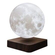 13 cm netic Levitation LED Press 3D Print Light Bedroom Moon