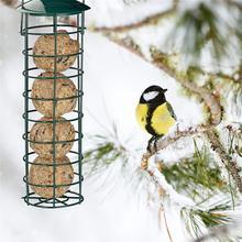 Bird Feeder Outdoor Hanging Mesh Feeding Portable Wild Iron Grease Ball Holder Supplies Pet Product Park Garden