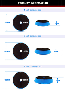 Image 3 - Auto Kit di Lucidatura 4/6/7 Pollici Auto Polacco di Lucidatura Pad Disco Abrasivo Spugna Foam Pad