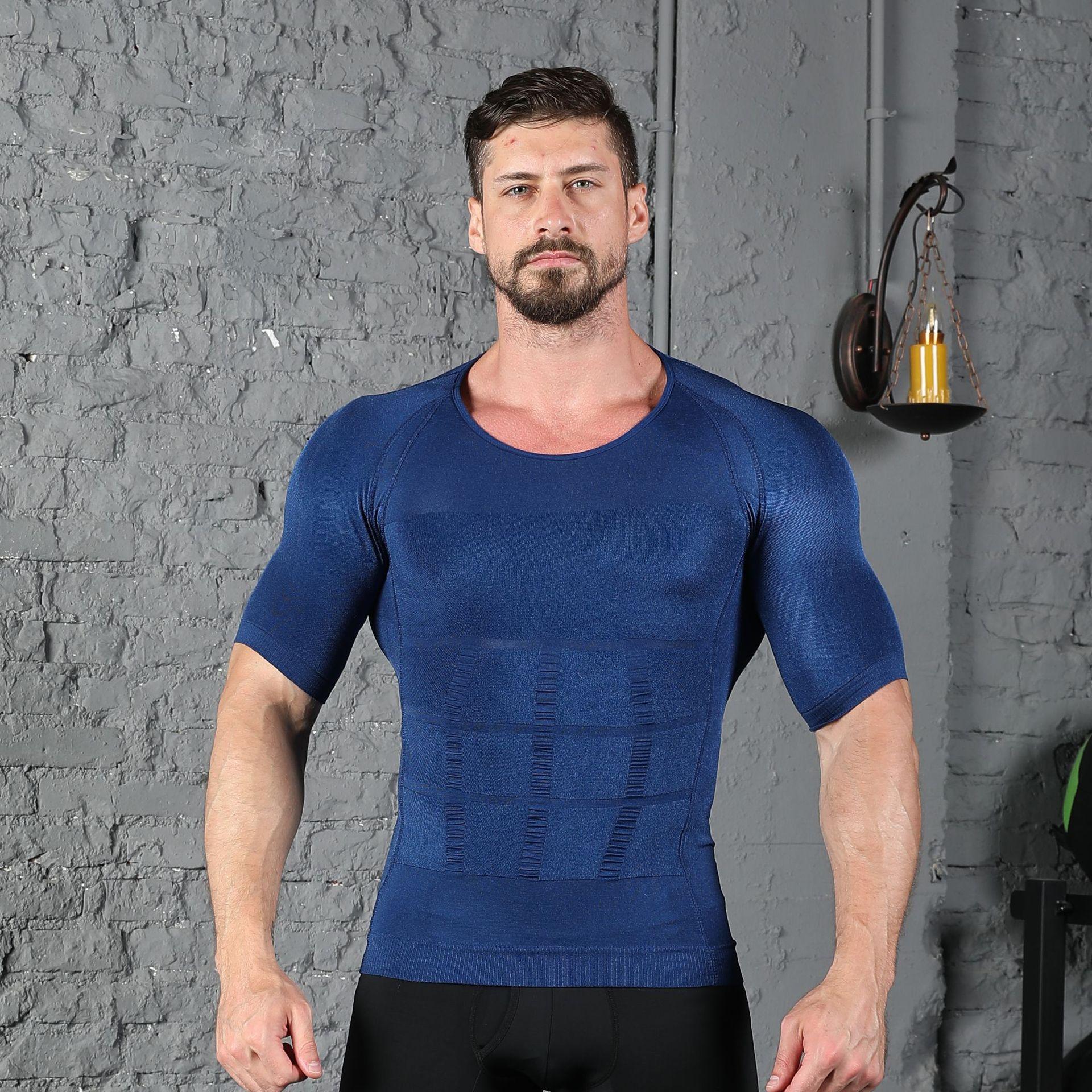 Tone Tee Men Compression Shapewear stretchable underneath bodytoning T-Shirt 3XL