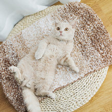 New Anti Slip Cat Mat Plush Pet Rug Dog Kitten Bed Mats Cat Nest Puppy Pad Seat Sleeping Cushion Soft Pet House Pad Products(China)