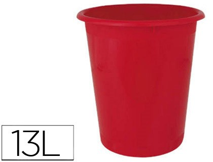 BIN PLASTICO ENSTO STAND 290 MM DIAMETER 320 MM HEIGHT 13 LITERS RED