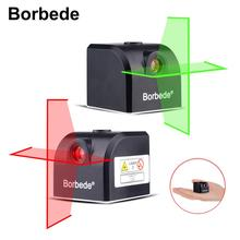 Borbede Laser Level 2 Red/Green Horizontal and Vertical Cross Lines Rechargeable Super Mini Pocket Size Upgrade