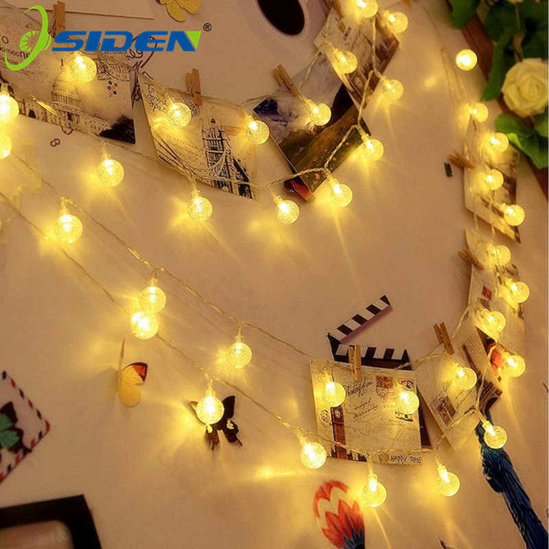 220 V Led Globe String Lights 10 M 5 M Indoor Outdoor Decoratieve Fairy Lights Warm Wit Voor Verjaardagsfeestje bruiloft Kerst