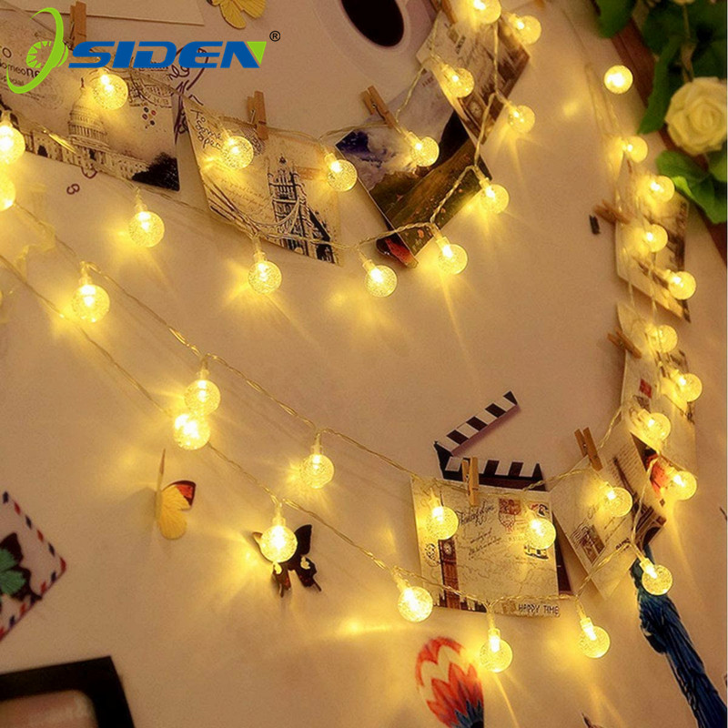 220v LED Globe String Lights 10m 5m  Indoor Outdoor Decorative Fairy Lights Warm White For Birthday Party Wedding Christmas