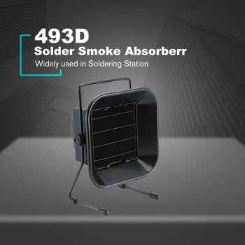 TAIKD 493D Adjustable Welding Solder Smoke Absorber Remover Fume Extractor Carbon Filter Quiet Fan for ESD Soldering Station