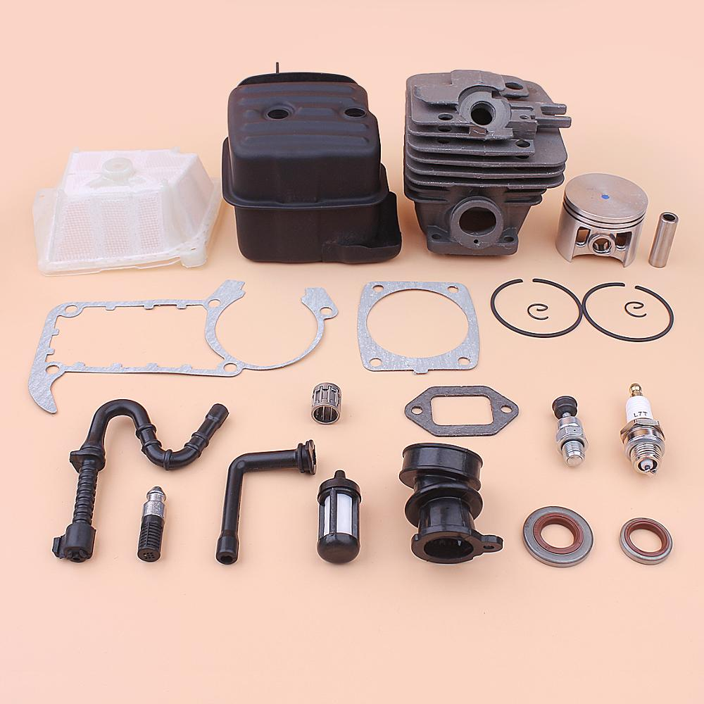 49mm Cylinder Piston Exhaust Muffler Kit For Stihl MS361 MS 361 Air Fuel Oil Filter Line Intake Manifold Gasket 1135 020 1202